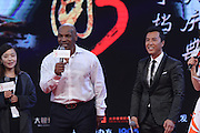 BEIJING, CHINA - MARCH 01: (CHINA OUT) <br /> <br /> American former professional boxer Mike Tyson (L) and actor Donnie Yen attend premiere of film Ip Man 3 directed by Wilson Yip on March 1, 2016 in Beijing, China. <br /> ©Exclusivepix Media