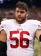 San Francisco 49ers center Dillon Farrell (56) looks on during the NFL week 6 regular season football game against the St. Louis Rams on Monday, Oct. 13, 2014 in St. Louis. The 49ers won the game 31-17. ©Paul Anthony Spinelli