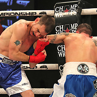 FORT LAUDERDALE, FL - FEBRUARY 15: Travis Thompson (R) fights Joshua Bordauex during the Bare Knuckle Fighting Championships at Greater Fort Lauderdale Convention Center on February 15, 2020 in Fort Lauderdale, Florida. (Photo by Alex Menendez/Getty Images) *** Local Caption *** Travis Thompson; Joshua Bordauex
