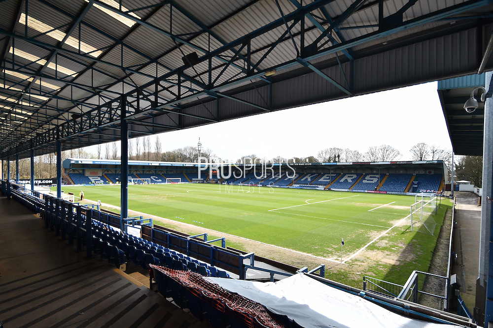 JD Stadium before the Sky Bet League 1 match between Bury and Doncaster Rovers at the JD Stadium, Bury, England on 9 April 2016. Photo by Mark Pollitt.