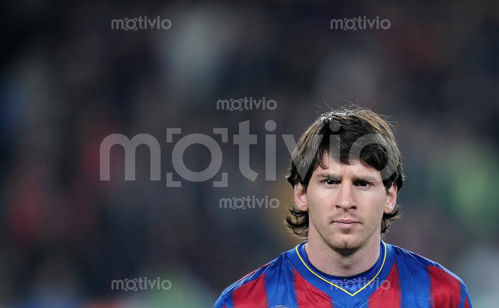 FUSSBALL  International  Champions   League  Rueckspiel   SAISON 2009/2010    FC Barcelona - VfB Stuttgart       17.03.2010 Lionel Messi (Barca)