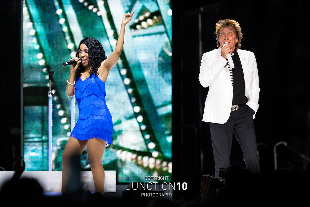 Rod Stewart performs at the LG Arena, Birmingham, United Kingdom<br /> Picture Date: 19 June, 2013