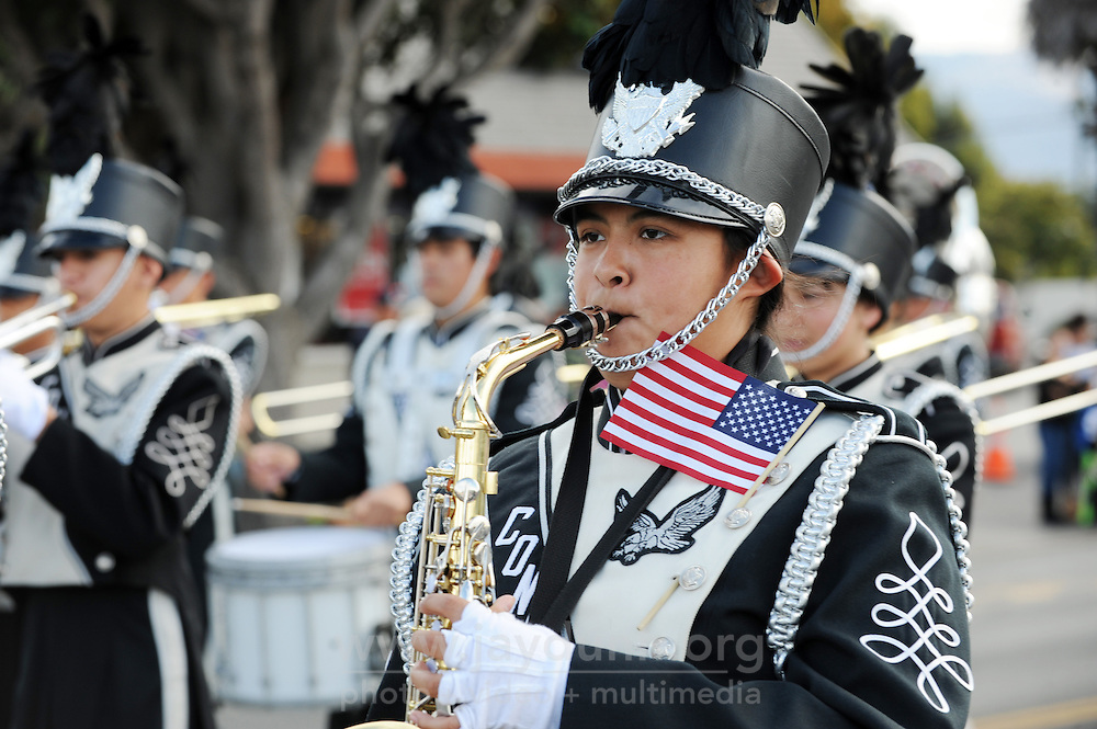 Marching bands added to the patriotic sentiment during Monday's 3rd Annual Monterey County Veterans Parade in Salinas.