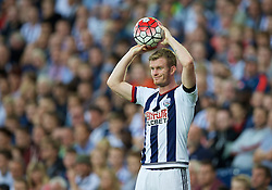 WEST BROMWICH, ENGLAND - Monday, August 10, 2015: West Bromwich Albion's Chris Brunt in action against Manchester City during the Premier League match at the Hawthorns. (Pic by David Rawcliffe/Propaganda)