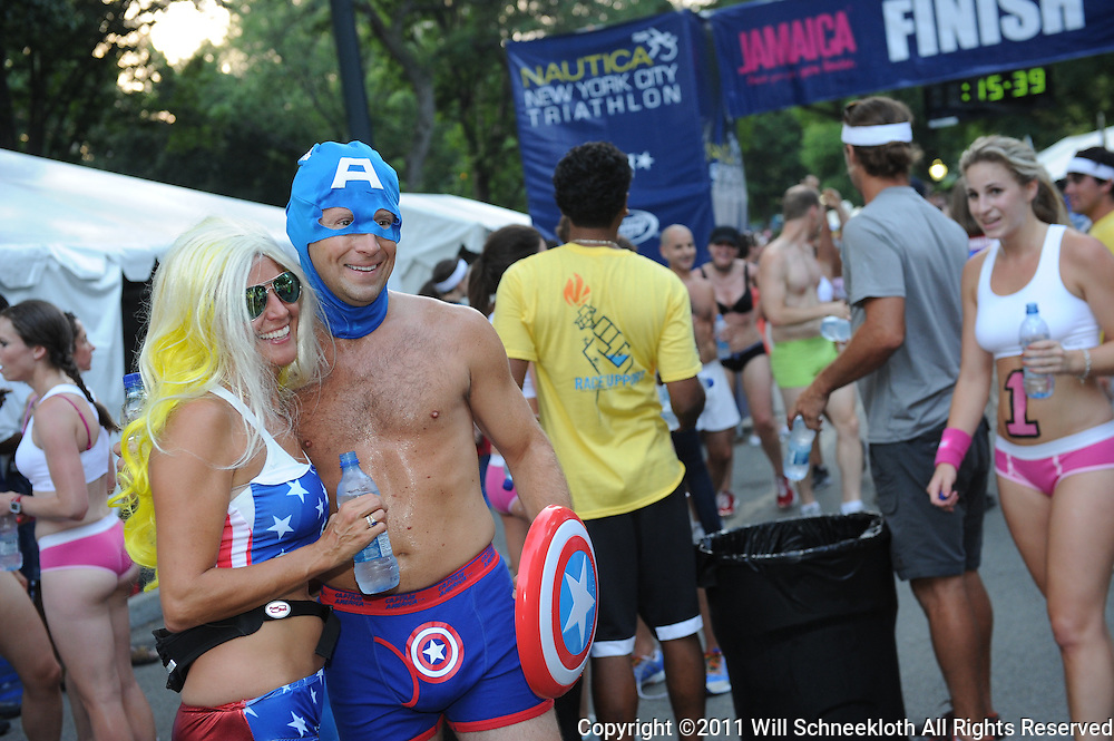 2011 Jamaica Underwear Run, part of the Nautica New York City Triathlon, in Central Park.