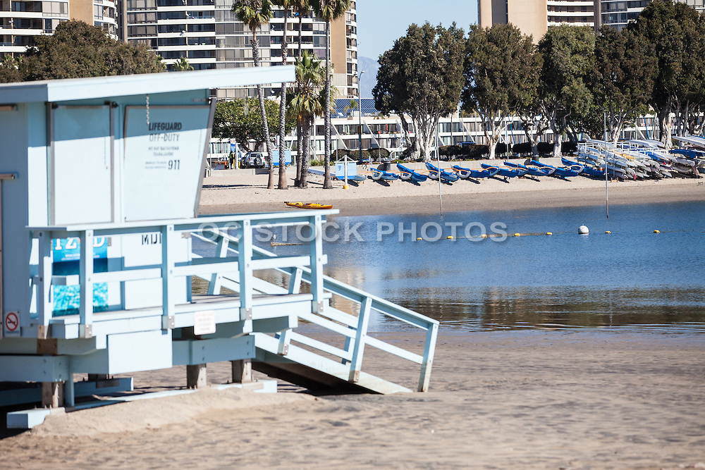 Lifeguard Tower at the Beach in the Marina at Marina Del Rey