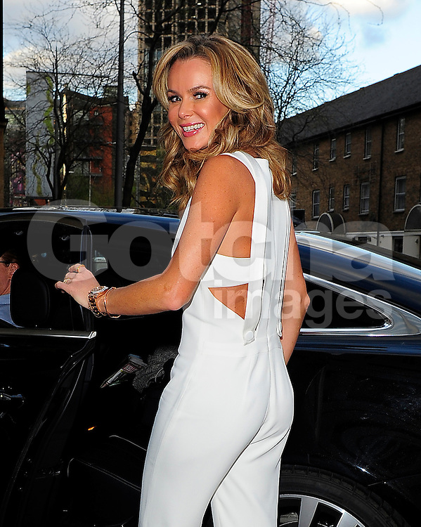 Amanda Holden at ITV studios in London, UK. 09/04/2014<br />