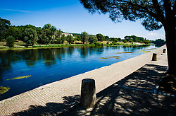 Dordogne River in Sainte-Foy-la-Grande, Gironde, Aquitaine, France<br /> <br /> (c) Andrew Wilson | Edinburgh Elite media