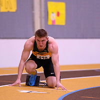 Hunter Bosch in action during the 2018 Canada West Track & Field Championship on February  23 at James Daly Fieldhouse. Credit: Arthur Ward/Arthur Images