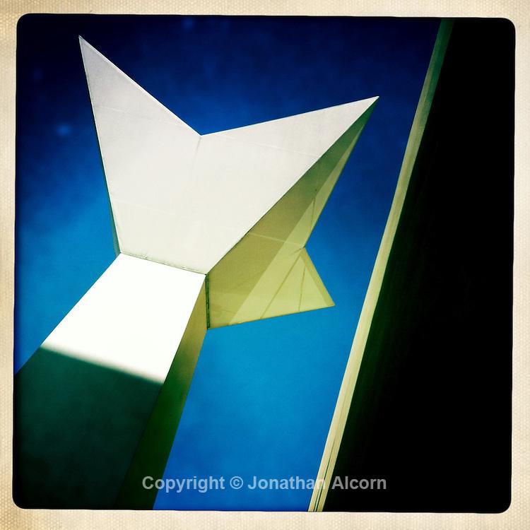 Geometric design on a a building