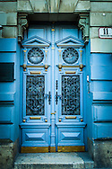 Budapest, Hungary Blue & Gold Stunning Doorway