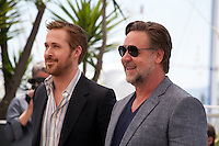 Actors Ryan Gosling and Russell Crowe at the The Nice Guys film photo call at the 69th Cannes Film Festival Sunday 15th May 2016, Cannes, France. Photography: Doreen Kennedy
