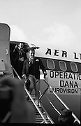 Dana Arrives after Eurovision Success.23/03/1970 greetings at dublin airport, shay healy,