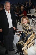 19.FEBRUARY.2012. LONDON<br /> <br /> SIR PHILIP GREEN AND ANNA WINTOUR AT THE TOPSHOP FASHION CATWALK SHOW AT LONDON FASHION WEEK IN LONDON <br /> <br /> BYLINE: EDBIMAGEARCHIVE.COM<br /> <br /> *THIS IMAGE IS STRICTLY FOR UK NEWSPAPERS AND MAGAZINES ONLY*<br /> *FOR WORLD WIDE SALES AND WEB USE PLEASE CONTACT EDBIMAGEARCHIVE - 0208 954 5968*