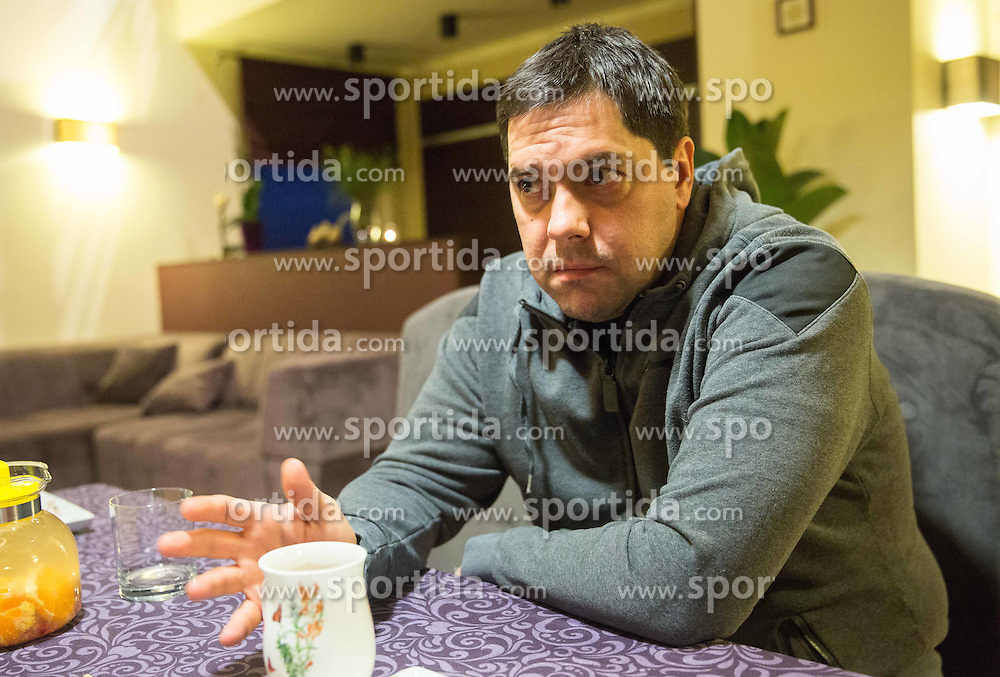 Saso Filipovski, head coach of basketball club Stelmet BC Zielona Gora (POL) at his home, on January 21, 2016 in Zielona Gora, Poland. Photo by Vid Ponikvar / Sportida