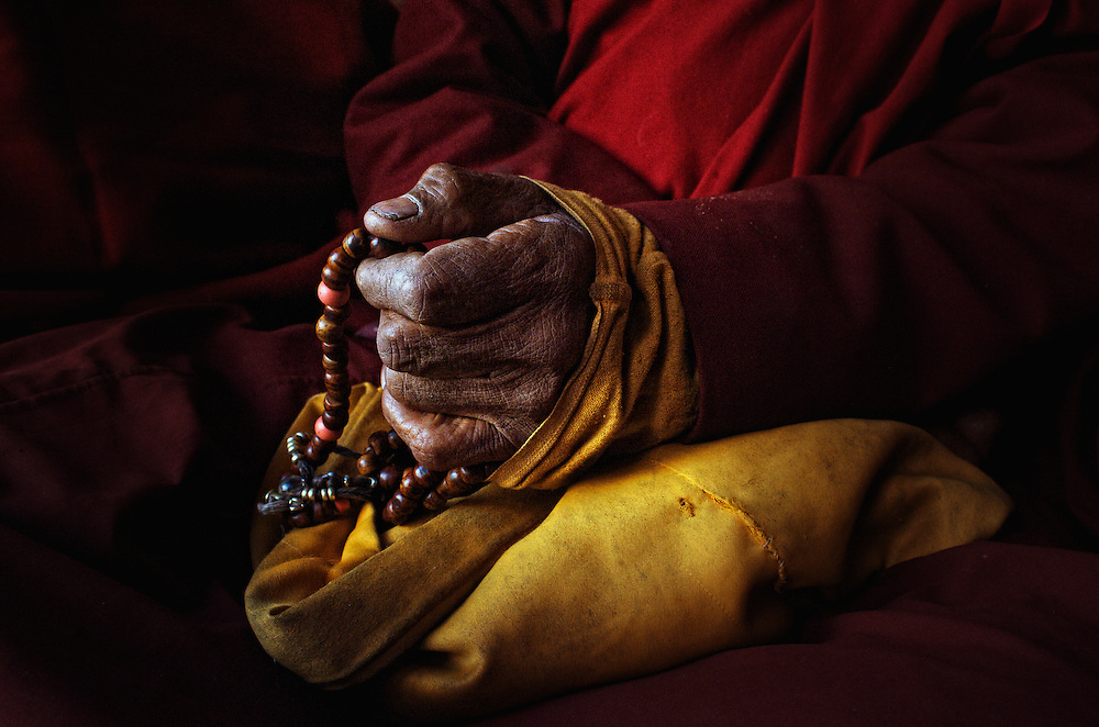 """Buddhist prayer beads or """"Japa mala"""" are a traditional tool used to count time while meditating using mantras. They are similar to other forms of prayer beads used in various world religions and to Christianity's Rosary...A Japa mala is a set of beads commonly used by Hindus and Buddhists, usually made from 108 beads, though other numbers, usually divisible by 9, are also used. Malas are used for keeping count while reciting, chanting, or mentally repeating a mantra or the name or names of a deity. This practice is known in Sanskrit as japa. Malas are typically made with 19, 21, 27, 54 or 108 beads."""