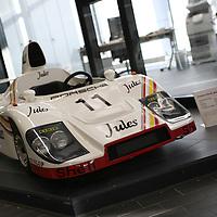 """""""Junior"""" Model car of the Porsche 936, Winner 1981 Le Mans, Drivers - Derek Bell / Jacky Ickx, Porsche Museum 2010"""