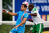 Onderwerp/Subject: Saint Etienne - Willem II - Friendly<br /> Reklame:  <br /> Club/Team/Country: <br /> Seizoen/Season: 2014/2015<br /> FOTO/PHOTO: Florentin POGBA (R) of Saint Etienne in duel with Ali MESSAOUD (L) of Willem II. (Photo by PICS UNITED)<br /> <br /> Trefwoorden/Keywords: <br /> #04 #17 $94 ±1405930132301<br /> Photo- & Copyrights © PICS UNITED <br /> P.O. Box 7164 - 5605 BE  EINDHOVEN (THE NETHERLANDS) <br /> Phone +31 (0)40 296 28 00 <br /> Fax +31 (0) 40 248 47 43 <br /> http://www.pics-united.com <br /> e-mail : sales@pics-united.com (If you would like to raise any issues regarding any aspects of products / service of PICS UNITED) or <br /> e-mail : sales@pics-united.com   <br /> <br /> ATTENTIE: <br /> Publicatie ook bij aanbieding door derden is slechts toegestaan na verkregen toestemming van Pics United. <br /> VOLLEDIGE NAAMSVERMELDING IS VERPLICHT! (© PICS UNITED/Naam Fotograaf, zie veld 4 van de bestandsinfo 'credits') <br /> ATTENTION:  <br /> © Pics United. Reproduction/publication of this photo by any parties is only permitted after authorisation is sought and obtained from  PICS UNITED- THE NETHERLANDS