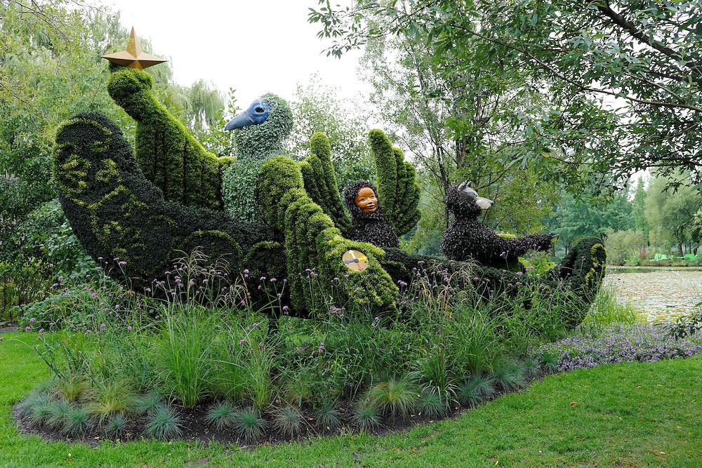 Plant sculpture, Mosaiculture Exposition 2013, Montreal, Province Quebec, Canada
