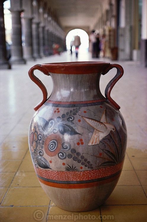 Painted and glazed Tonala pottery, Mexico.