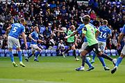 Goal, Mitch Pinnock of AFC Wimbledon scores, Peterborough United 2-1 AFC Wimbledon during the EFL Sky Bet League 1 match between Peterborough United and AFC Wimbledon at London Road, Peterborough, England on 28 September 2019.