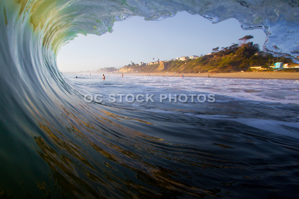 Waves Crashing at the Beach in San Clemente