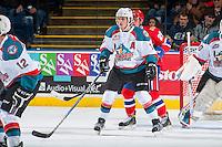 KELOWNA, CANADA - JANUARY 4: Lucas Johansen #7 of the Kelowna Rockets skates against the Spokane Chiefs on January 4, 2017 at Prospera Place in Kelowna, British Columbia, Canada.  (Photo by Marissa Baecker/Shoot the Breeze)  *** Local Caption ***
