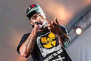 Method Man gives me the finger during a performance at Copenhagen's Vanguard Festival.