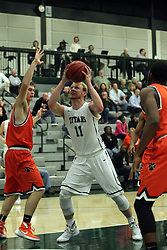 17 November 2015:  Colin Bonnett(11) during an NCAA men's division 3 CCIW basketball game between the Greenville College Panthers and the Illinois Wesleyan Titans in Shirk Center, Bloomington IL