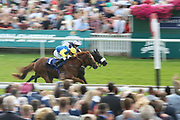 MANCINI (1) ridden by Jamie Spencer and trained by Jonathan Portman winning The John Smiths Stayers Handicap Stakes over 2m (£15,000) during the John Smiths Diamond Cup Meeting at York Racecourse, York, United Kingdom on 13 July 2019.