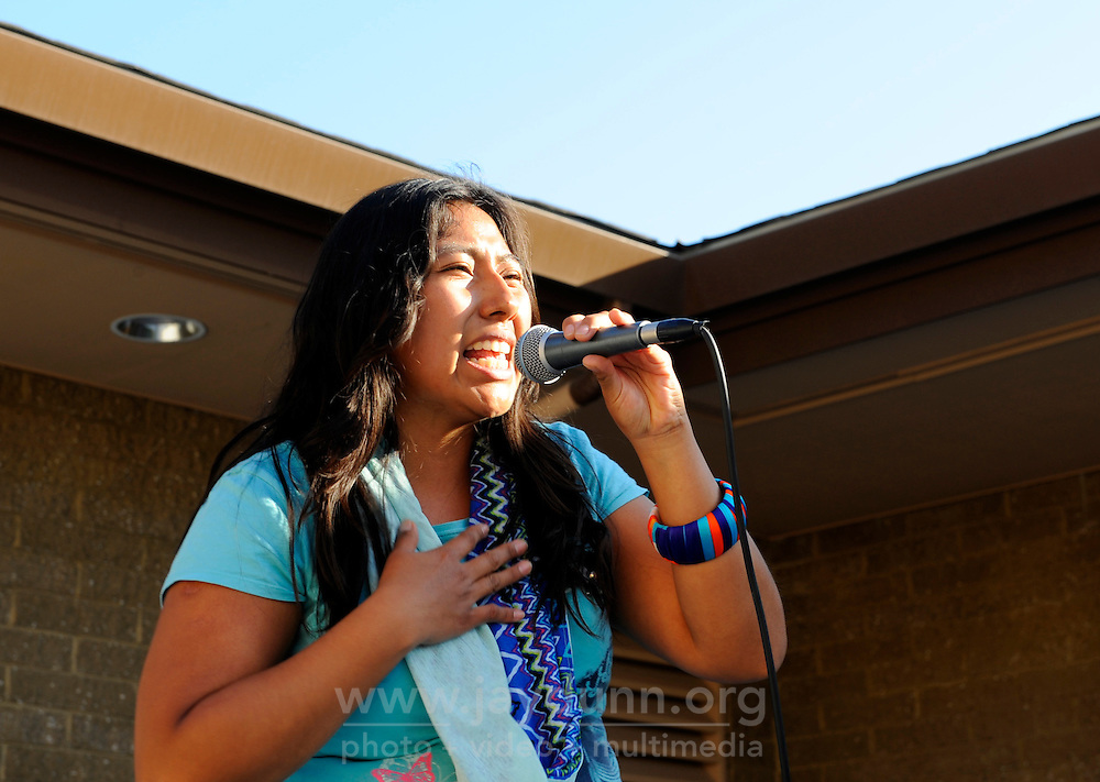 """Indigenous hip-hop artist Mare from Oaxaca, Mexico performs at the """"Hip Hop Beyond Borders"""" event on Saturday, April 20th at the Cesar Chavez Library in Salinas."""