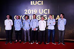 Wanty Gobert arrive at UCI Cycling Gala 2019 in Guilin, China on October 22, 2019. Photo by Sean Robinson/velofocus.com