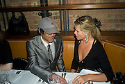 CHINA BURTON AND EMMA WOOLARD,  Dinner after the opening of Larry Clark. Los Angeles 2003- 2006. Simon Lee Gallery.  17 Berkeley st. London. 5 February 2008.  *** Local Caption *** -DO NOT ARCHIVE-© Copyright Photograph by Dafydd Jones. 248 Clapham Rd. London SW9 0PZ. Tel 0207 820 0771. www.dafjones.com.