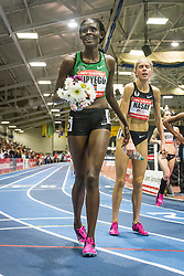 New Balance Indoor Grand Prix track & field, womens 2-mile, Sally Kipyego wins