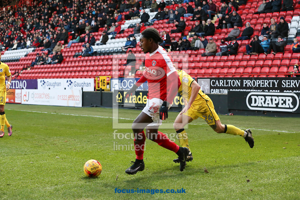 Jordan Botaka of Charlton Athletic during the Sky Bet League 1 match at The Valley, London<br /> Picture by Toyin Oshodi/Focus Images Ltd 07984788195<br /> 02/01/2017