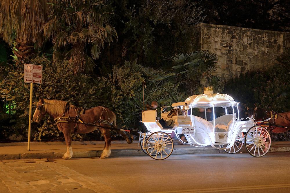 Carriage near Alamo Square,,San Antonio,Texas,USA