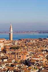 Aerial view of Venice, Italy / Italia December 4, 2007.