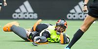 BRUSSEL - keeper Anne Veenendaal (Ned)   bij de halve finale ronde Hockey World League (dames) Nederland-Nieuw Zeeland (1-1). . Nederland wint de shoot-outs en plaatst zich voor de finale.   COPYRIGHT KOEN SUYK