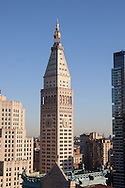 New York. midtown panorama, water tanks on rooftops  New York - United states /