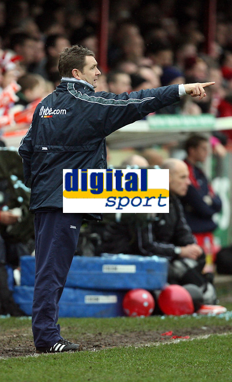Photo: Rich Eaton.<br /> <br /> Tamworth FC v Norwich City. The FA Cup. 06/01/2007. Peter Grant, manager of Norwich City