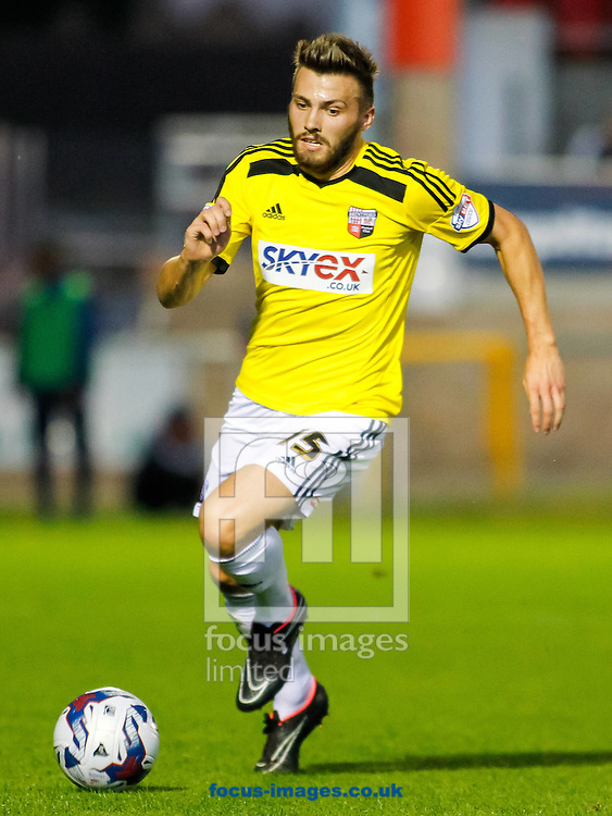 Stuart Dallas of Brentford during the Capital One Cup match at the London Borough of Barking and Dagenham Stadium, London<br /> Picture by Mark D Fuller/Focus Images Ltd +44 7774 216216<br /> 12/08/2014