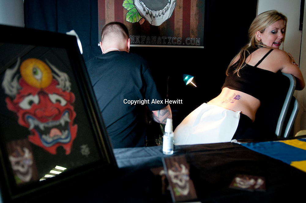 First Scottish Tattoo Convention at the Corn Exchange Edinburgh.26th and 27th March 2011.Caption detail available on request..photo by Alex Hewitt.alex.hewitt@gmail.com.07789871540