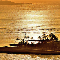 El Laguito Peninsula At Sunset in Cartagena, Colombia<br />