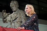 26 NOV 2017, BERLIN/GERMANY:<br /> Manuela Schwesig, SPD, Ministerpraesidentin MEcklenburg-Vorpommern, haelt eine REde anl. der Verleihung des Regine-Hildebrandt-Preises, Willy-Brandt-Haus<br /> IMAGE: 20171126-02-016