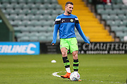 Forest Green Rovers Christian Doidge(9) warming up during the EFL Sky Bet League 2 match between Yeovil Town and Forest Green Rovers at Huish Park, Yeovil, England on 24 April 2018. Picture by Shane Healey.