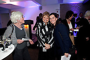 JENNY JEFFERIES; DEBORAH BORDA; SOPHIE JEFFERIES, LA Philharmonic reception, Fountain room, Barbican. 27 January 2011 -DO NOT ARCHIVE-© Copyright Photograph by Dafydd Jones. 248 Clapham Rd. London SW9 0PZ. Tel 0207 820 0771. www.dafjones.com.