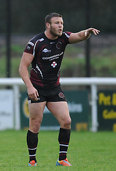 Ex St Helens and Rugby League convert Josh Jones in action for Taunton Titans in National 2- South.  - Mandatory byline: Alex Davidson/JMP - 07966386802 - 14/11/2015 - RUGBY - Hyde Park -Taunton, England - Rugby League convert Josh Jones plays for Taunton Titans.