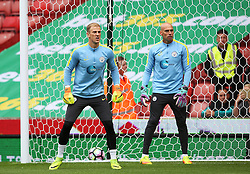 Joe Hart of Manchester City warms up with Willy Caballero - Mandatory by-line: Matt McNulty/JMP - 20/08/2016 - FOOTBALL - Bet365 Stadium - Stoke-on-Trent, England - Stoke City v Manchester City - Premier League