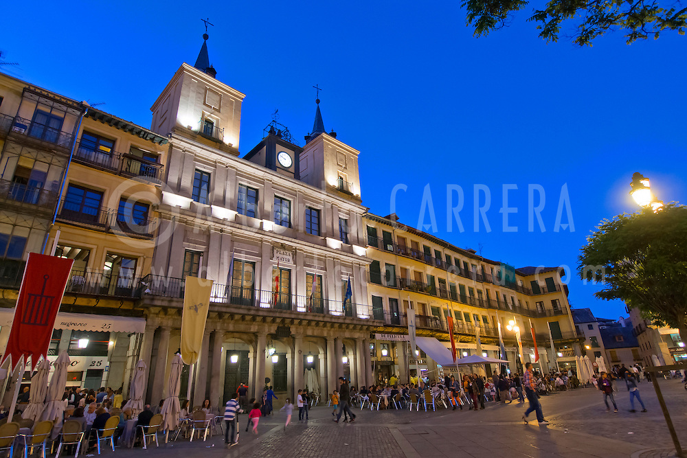 Alberto Carrera, City Hall, Main Square, Plaza Mayor, Segovia, UNESCO World Heritage Site, Castilla y León, Spain, Europe.