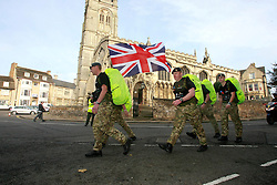 ©under license to London News Pictures. 04/11/2010 -  The RAF team start The March for Honour from the War Memorial in Stamford.